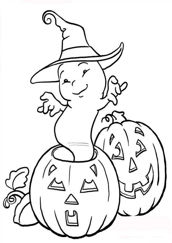 Ausmalbilder kostenlos Halloween 2 | Ausmalbilder Kostenlos