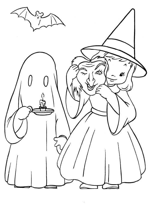 Ausmalbilder kostenlos Halloween