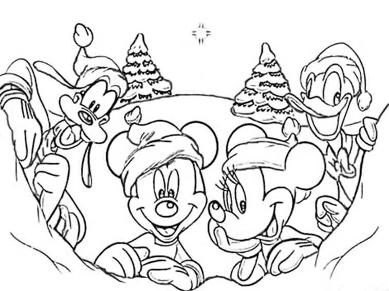 Weihnachten Disney Charaktere