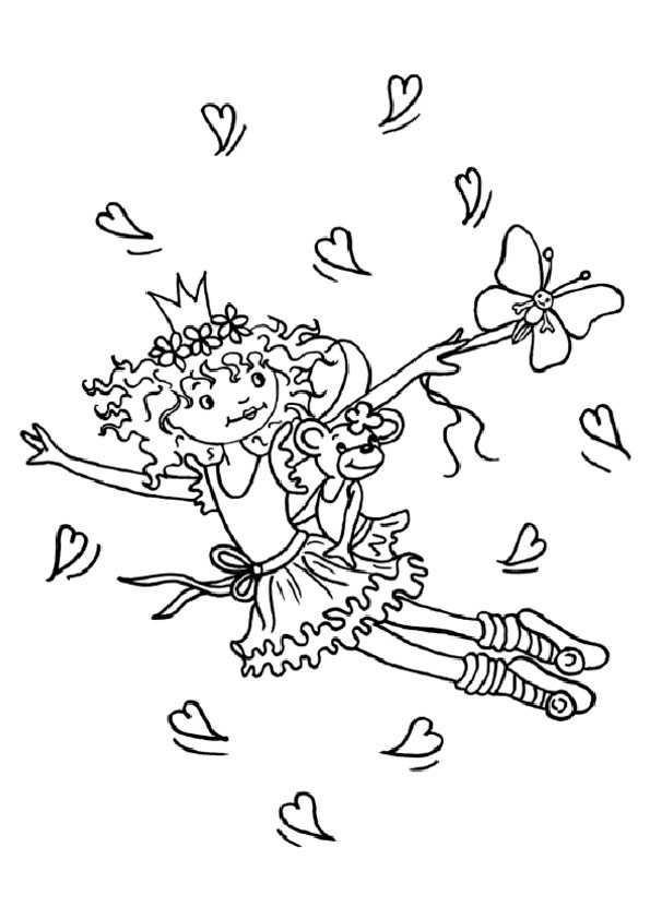 lillifee mit Schmetterling und Herzen