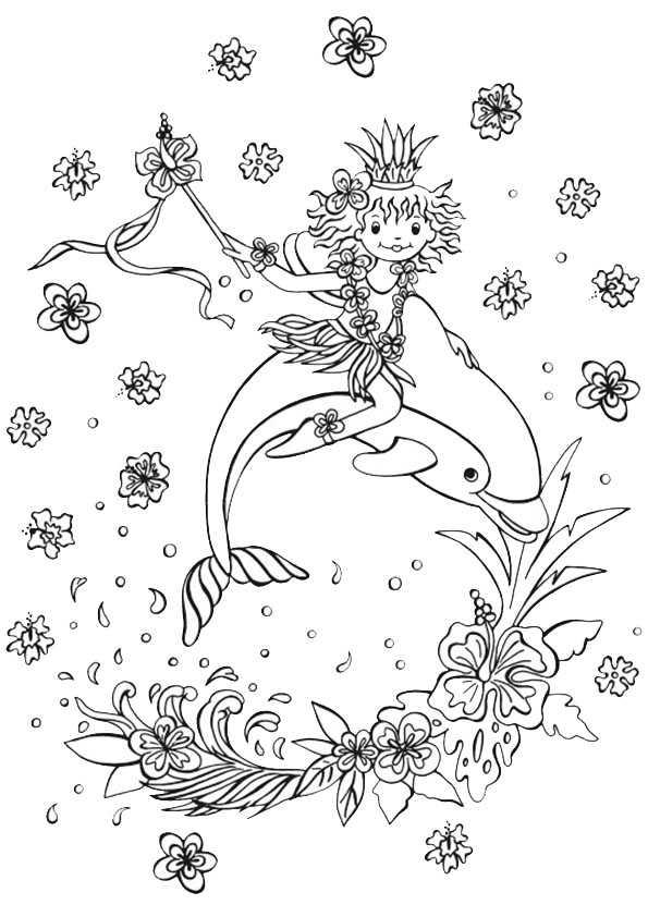 Lillifee mit einem Delphin
