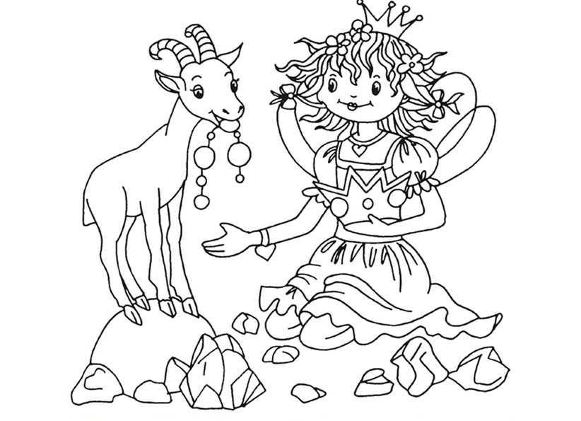 Lillifee mit Ziege