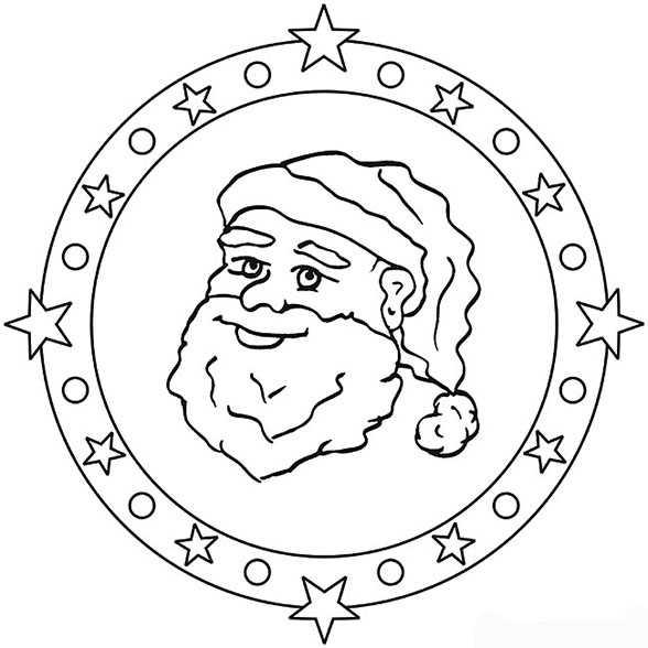 mandala mit weihnachtsmann