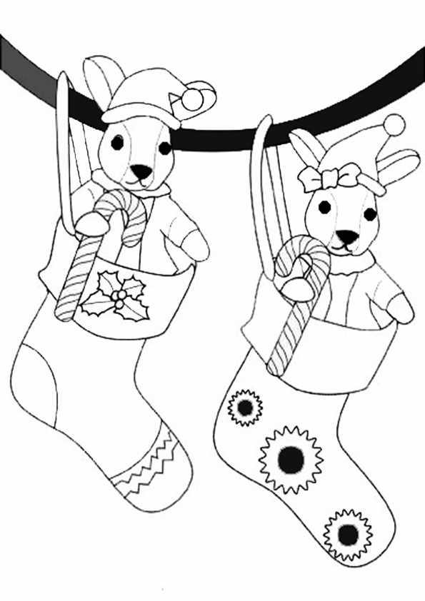zwei Socken für Weihnachtsgeschenke