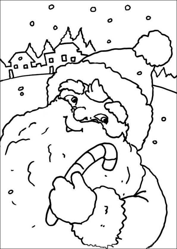 Weihnachtsmann auf Weihnachten Landschaft