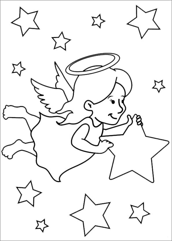 Engel mit einem Stern