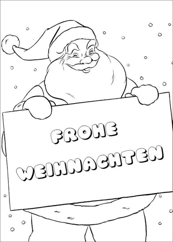 Weihnachtsmann wünscht Ihnen frohe Weihnachten