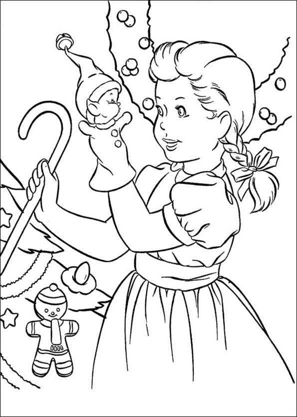 Mädchen mit einer Marionette