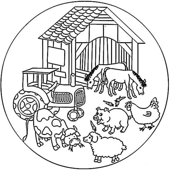 Erfreut Fall Traktoren Mandalas Malvorlagen Galerie ...