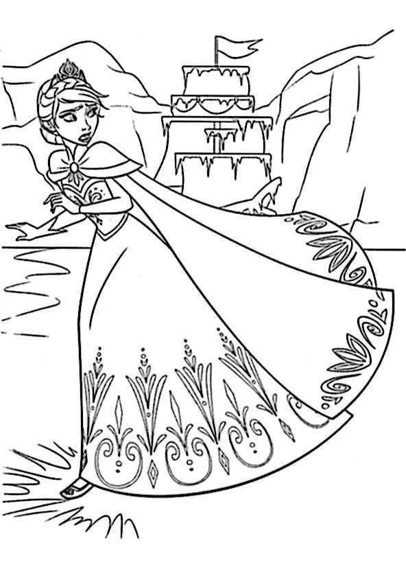 ausmalbilder kostenlos Eiskönigin 7