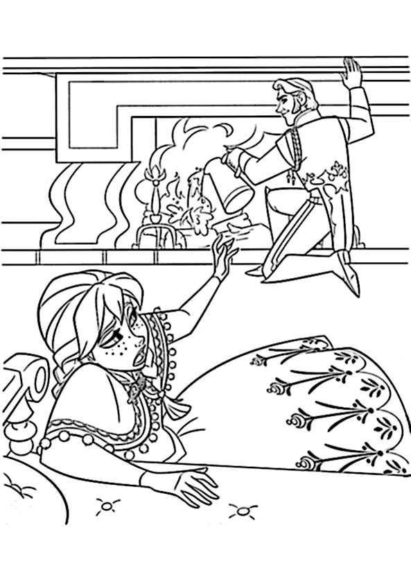 Ausmalbilder kostenlos Eiskönigin 11