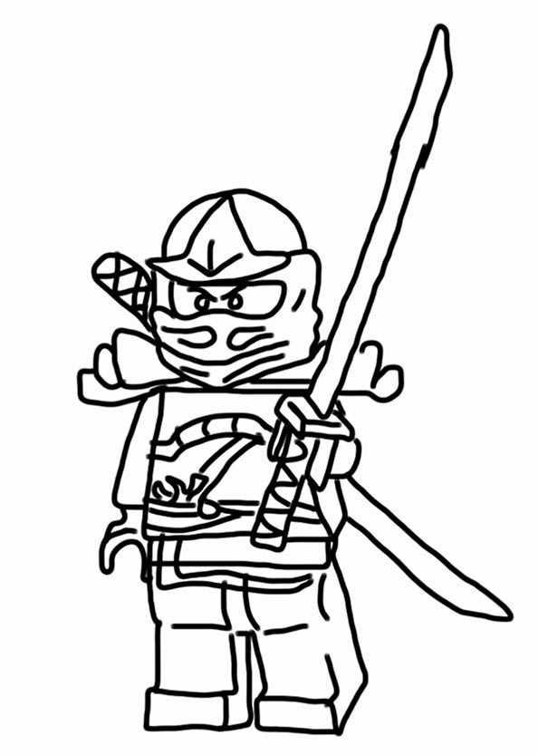 lego ninjago 3 zum ausmalen