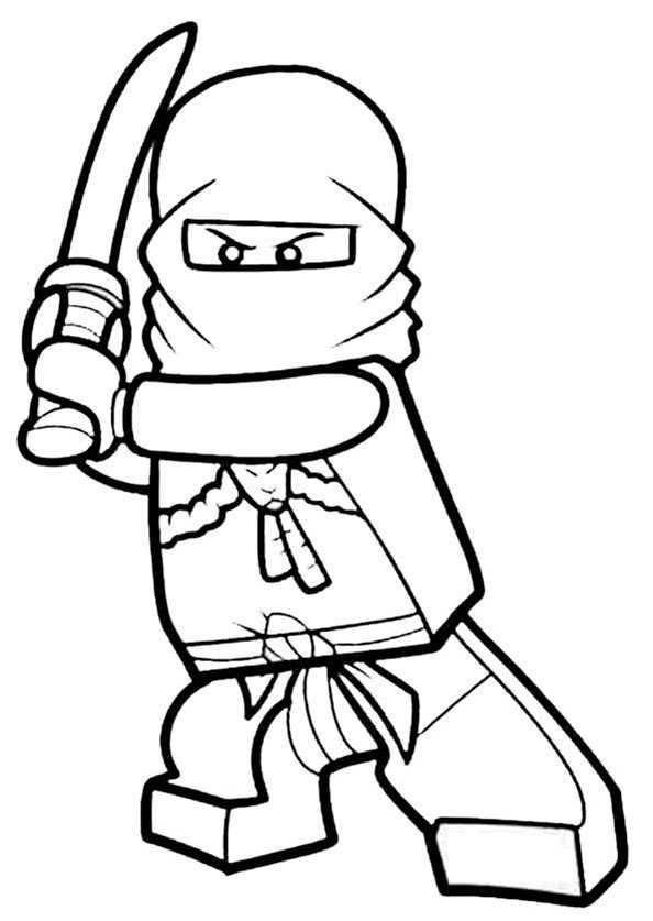 lego ninjago 4 zum ausmalen