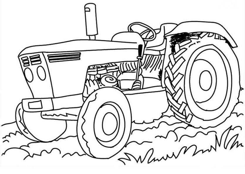 bilder zum ausmalen traktor 1