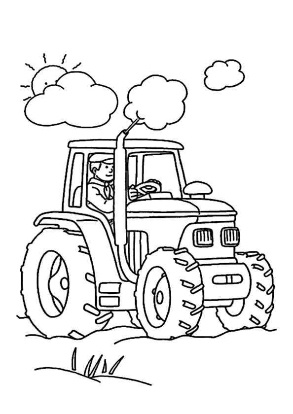 Traktor für die Landwirtschaft zum ausmalen
