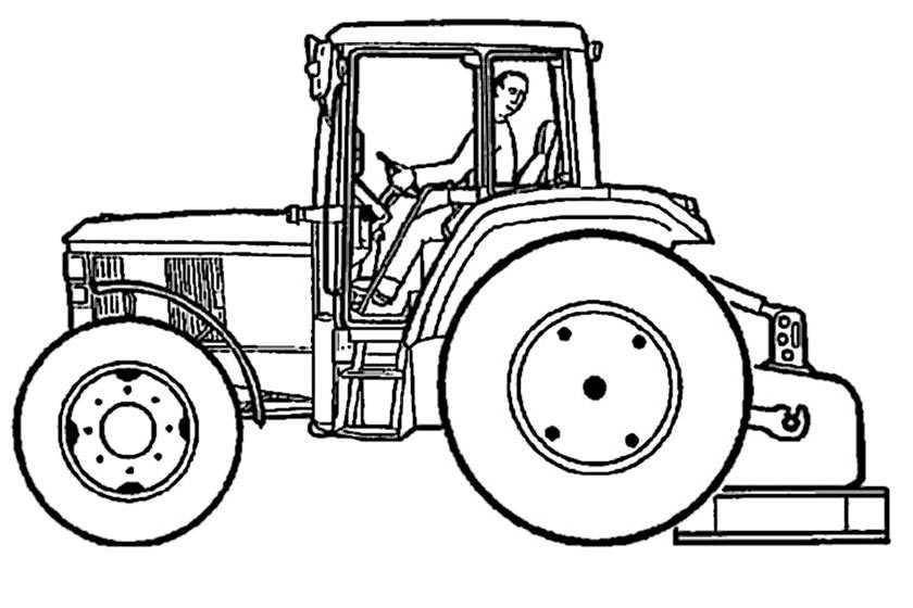 traktor 4 zum drucken und malen