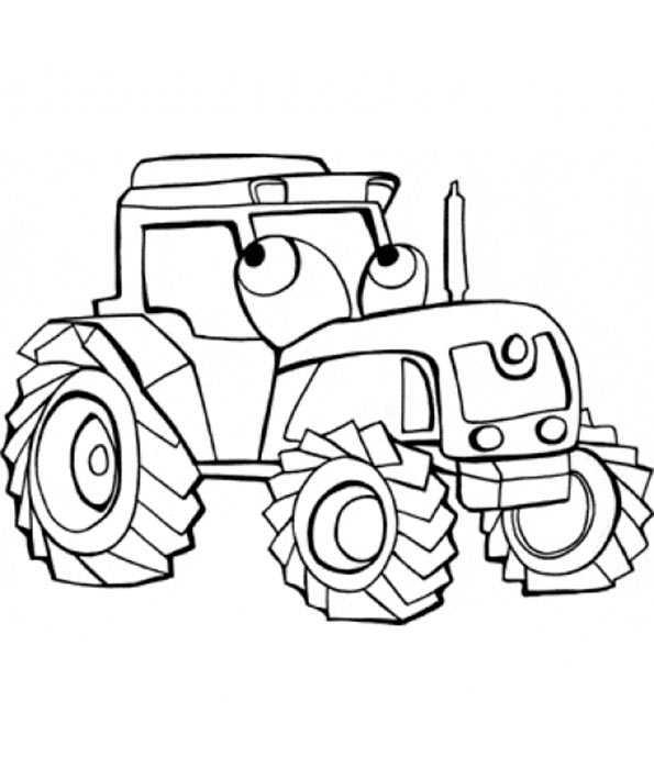 funny traktor zum ausmalen