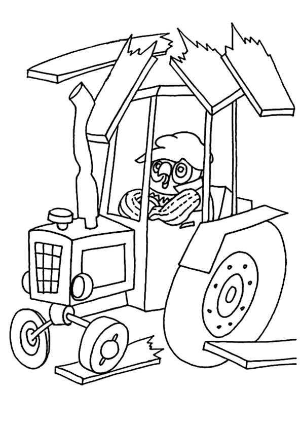 armen traktor zum ausmalen