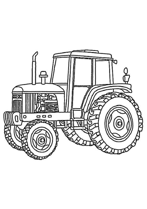 traktor 13 zum ausmalen