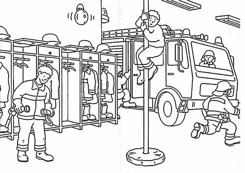 ausmalen Feuerwehr 4