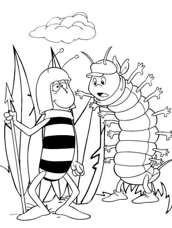 Biene Maja 2 ausmalen
