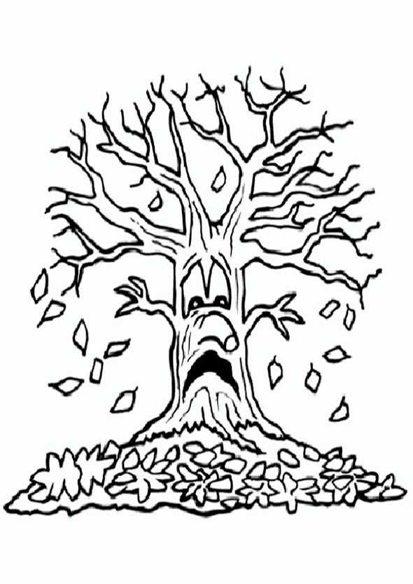 die Blätter vom Baum im Herbst fallen