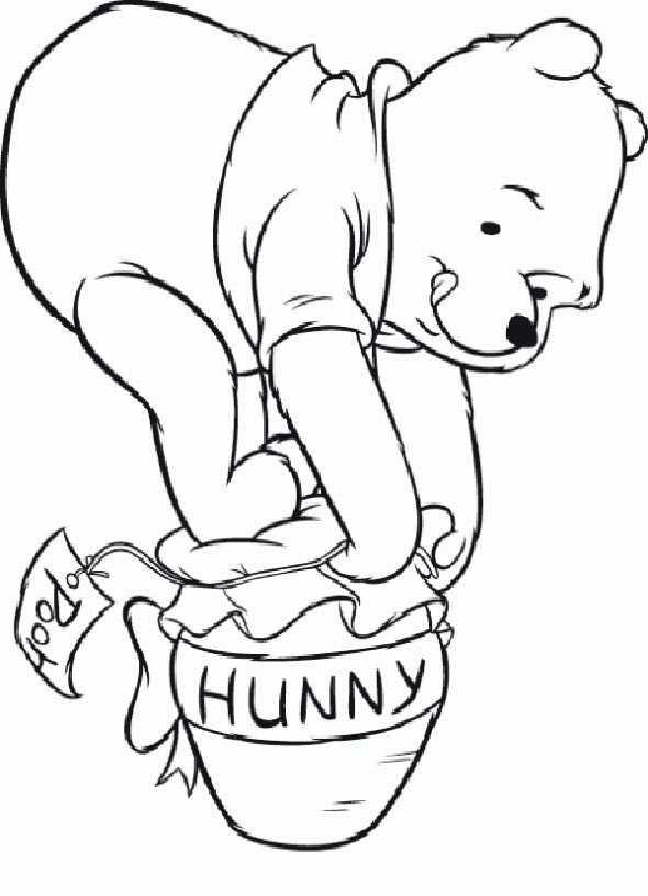 winnie pooh baby mit Glas Honig