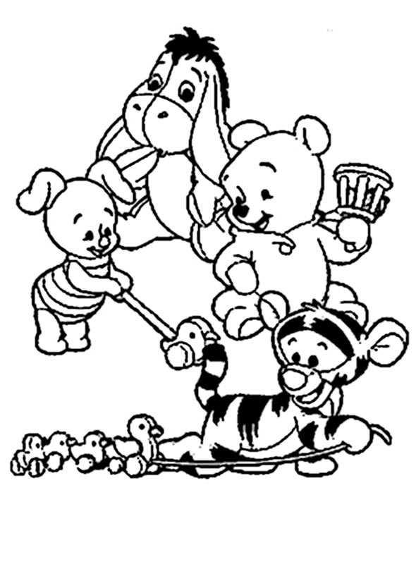 Winnie Pooh Spielen mit Freunden