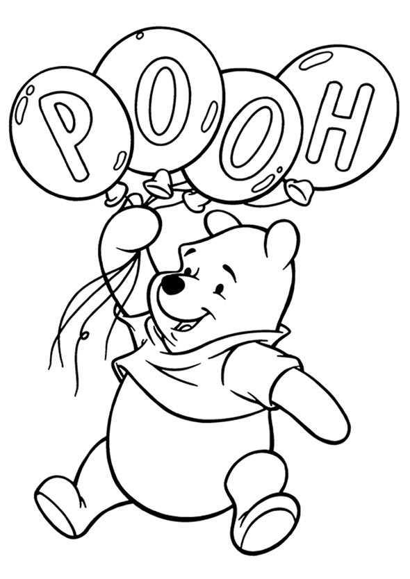 Ausmalbilder kostenlos Winnie Pooh Baby 10 | Ausmalbilder Kostenlos