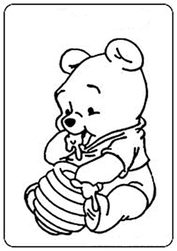 Winnie Pooh Baby 12 ausmalen