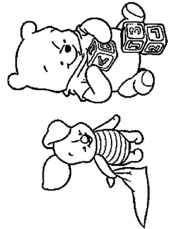 Winnie Pooh spielt mit ferkel