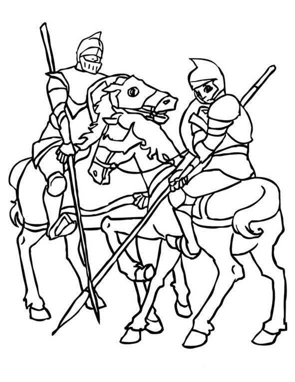 Zwei Ritter zu Pferd