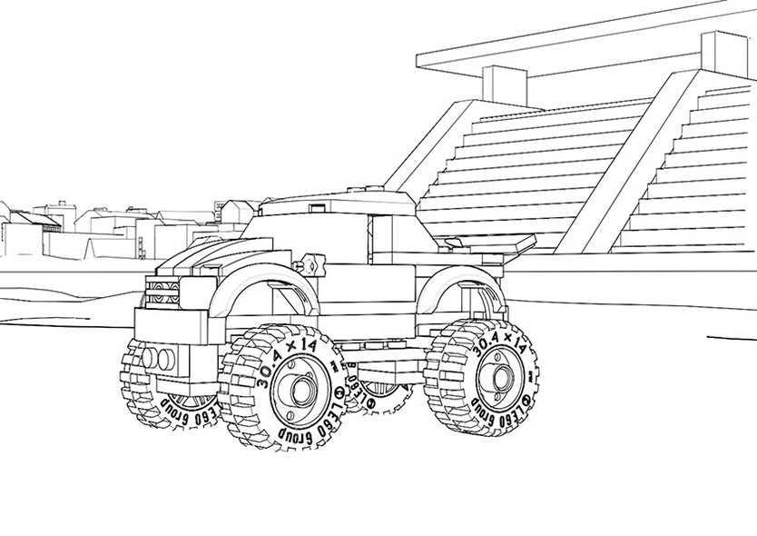 ausmalbilder kostenlos monster truck 1