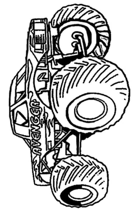ausmalbilder kostenlos monster truck 2