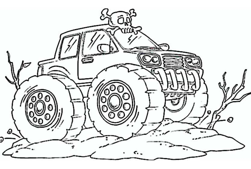 Monster Truck 3 on Angry Birds Coloring Pages