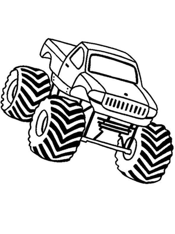 ausmalbilder kostenlos monster truck 4