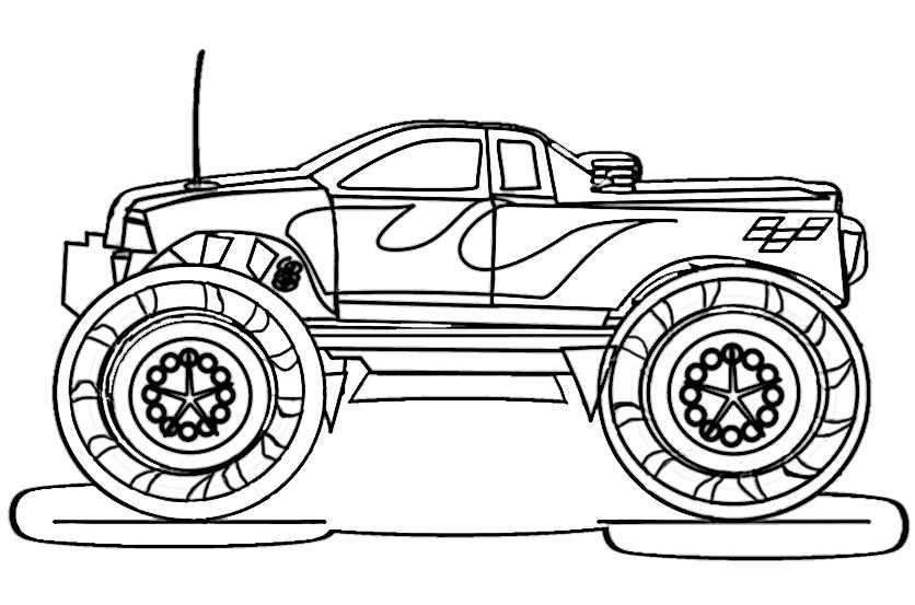 ausmalbilder kostenlos monster truck 5