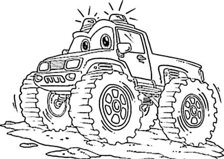 ausmalbilder kostenlos monster truck 8