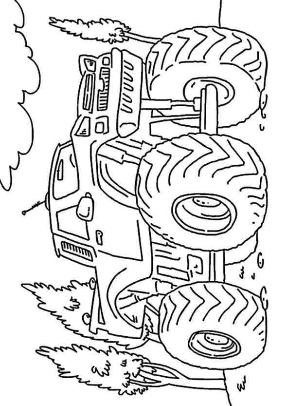 ausmalbilder kostenlos monster truck 9