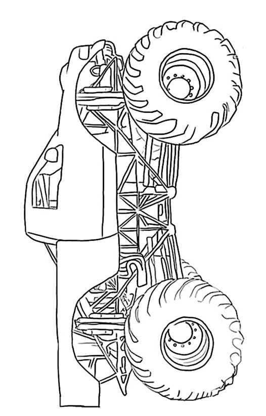 ausmalbilder kostenlos monster truck 12