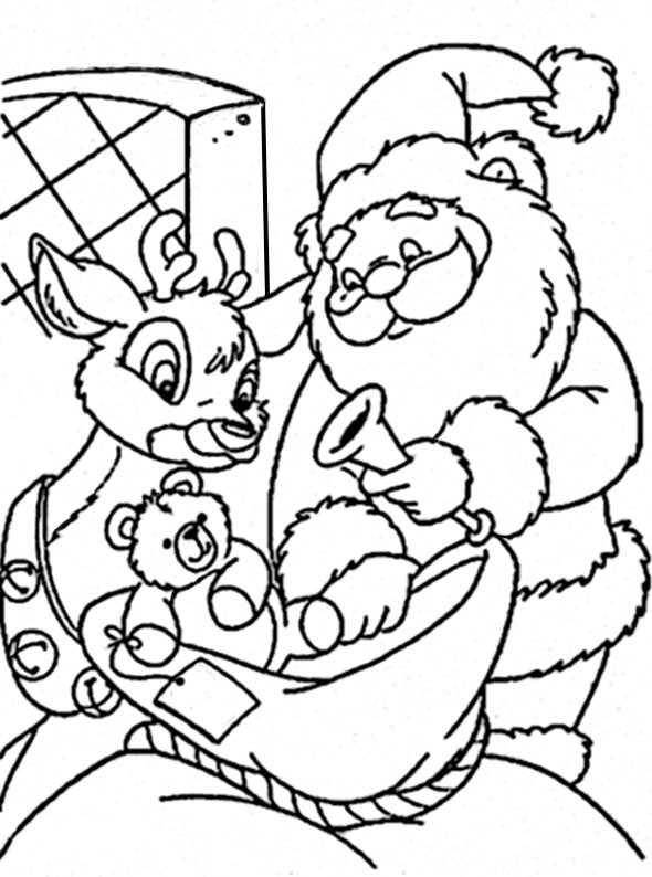 Weihnachtsmann ausmalen 48