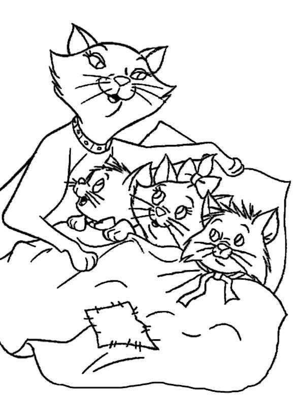 malvorlagen katzen 7