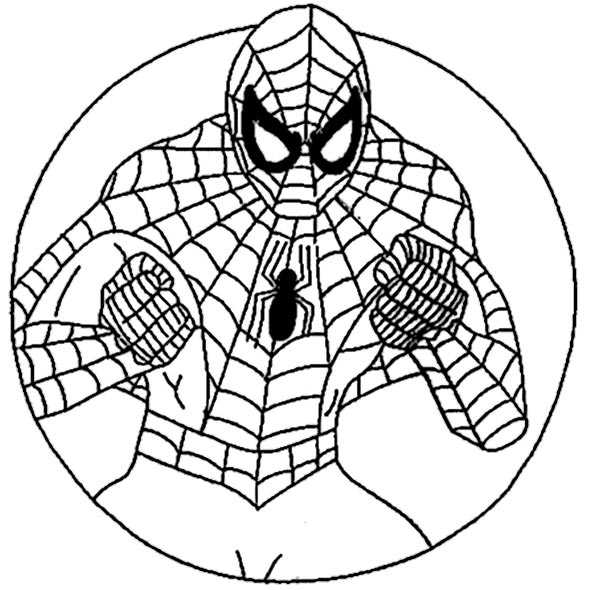 spiderman mandala ausmalen