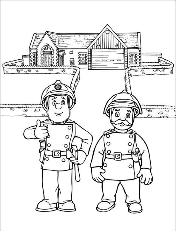 ausmalen Feuerwehrmann Sam 2