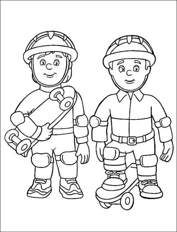 Feuerwehrmann Sam 6 zum malen