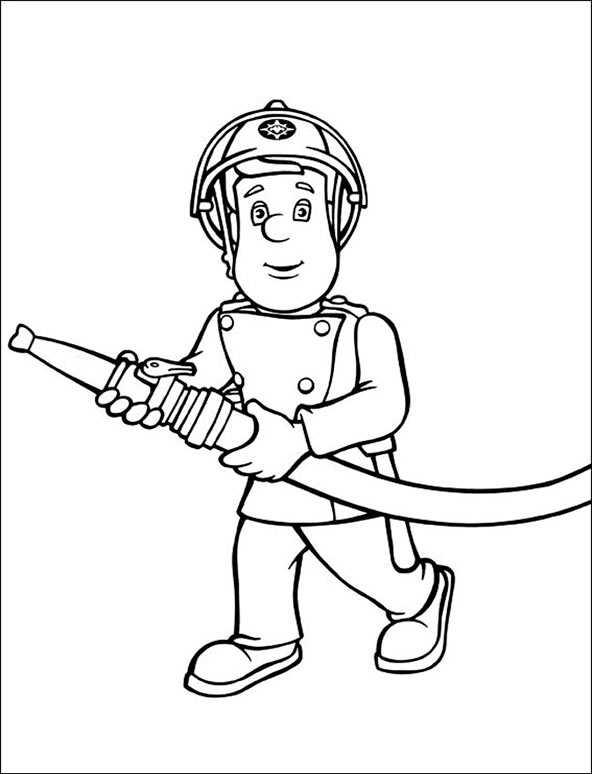 Feuerwehrmann Sam 7 zum malen