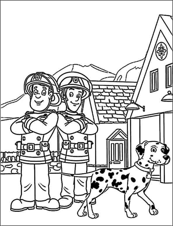 Feuerwehrmann Sam 10 zum malen