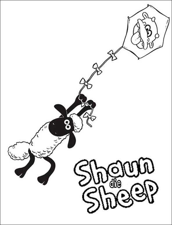 Shaun das Schaf 2 zum malen