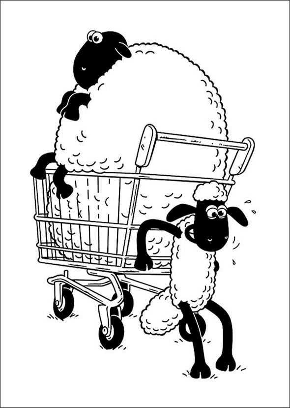 Shaun das Schaf 3 zum malen