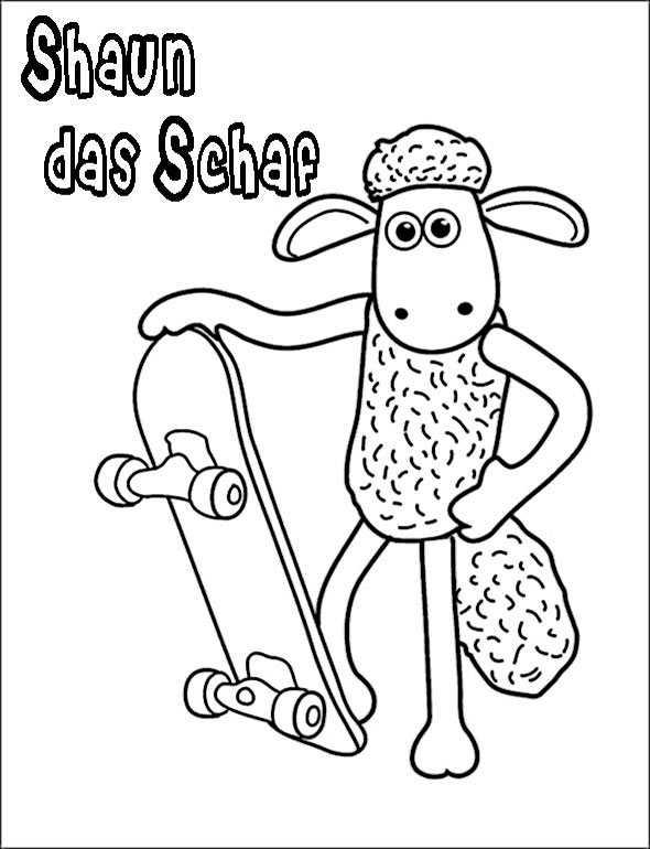 Shaun das Schaf 4 zum malen